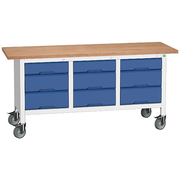 Bott Verso Mobile Storage Benches - 1750mm With 9 Drawers
