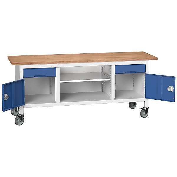Bott Verso Mobile Storage Benches - 2000mm With 2 Cupboards & 2 Drawers