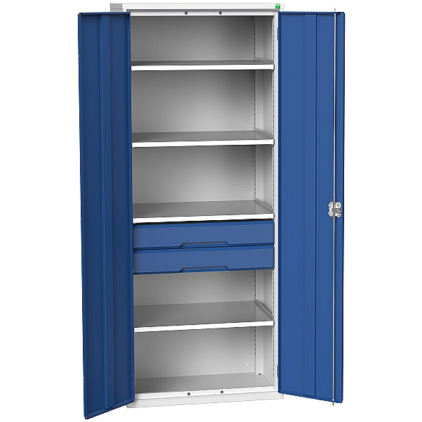 Bott Verso Kitted Cupboard 800W 4 Shelves and 2 Drawers