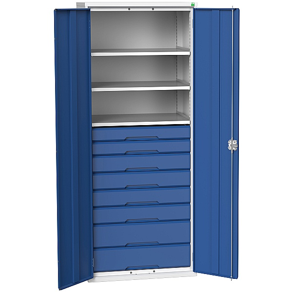 Bott Verso Kitted Cupboard 800W 3 Shelves and 8 Drawers