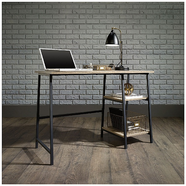 Foundry Industrial Style Laptop Desk- Charter Oak