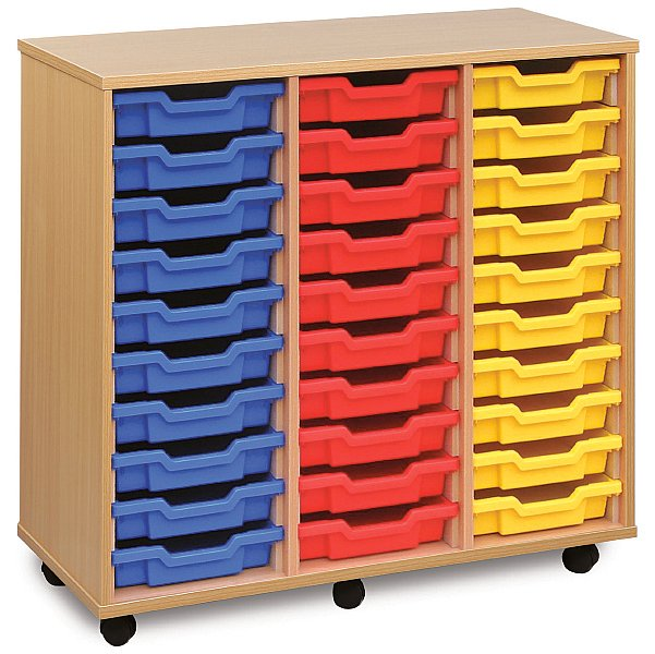 30 Tray Shallow Storage Unit