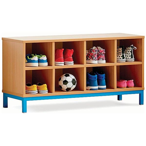 Cloakroom Storage Bench With 8 Open Compartments