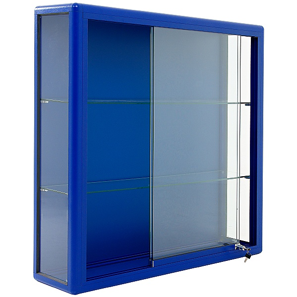 Wall Mounted Glass Display Cabinet with Sliding Door