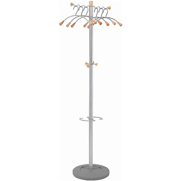 Wavy Coat And Bag Stand
