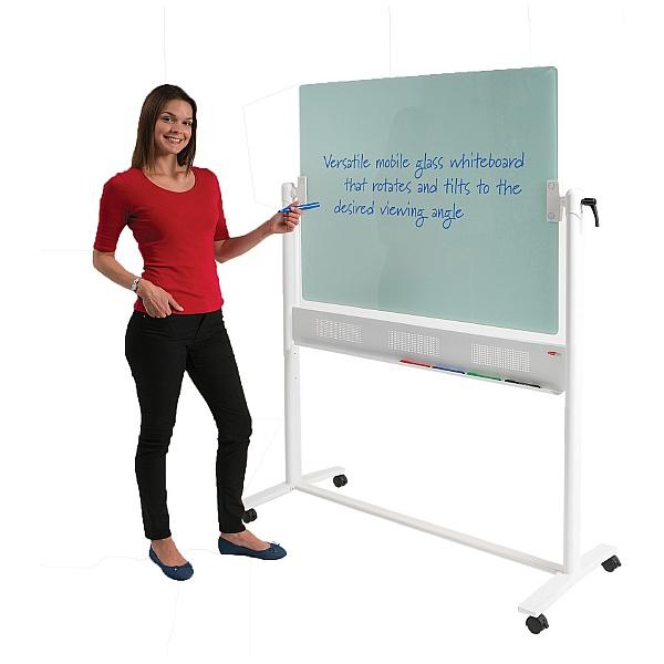 Write-On Glass Revolving Whiteboard