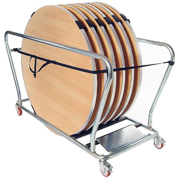 GoPak™ 4ft Round Folding Tables + Trolley Bundle