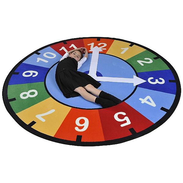Rainbow Clock Rug