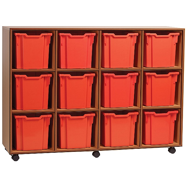 Essentials Mobile 12 Jumbo Tray Storage Units