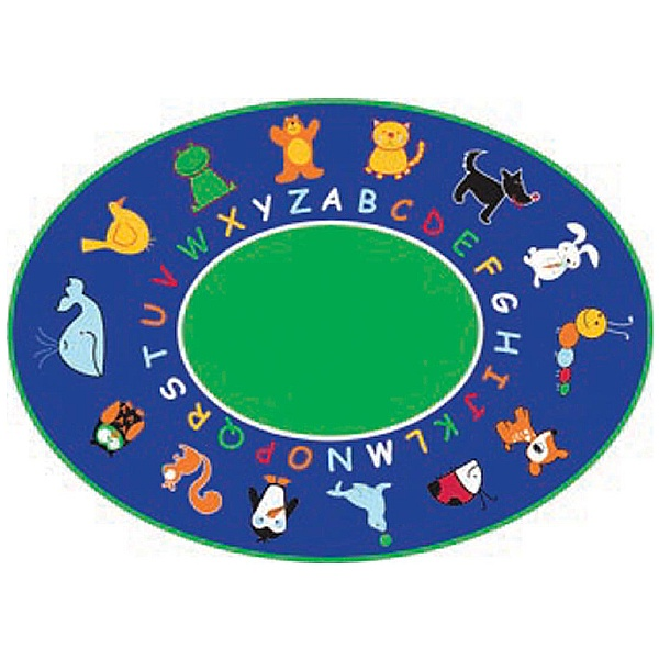 Fun With Animals Oval Rug