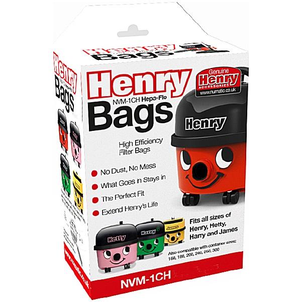 Numatic Henry Hepaflo Dust Bags - Pack of 80 Bags