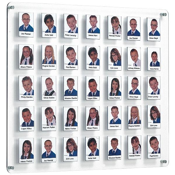 Crystal Wall Class/Staff Board 35 Pockets