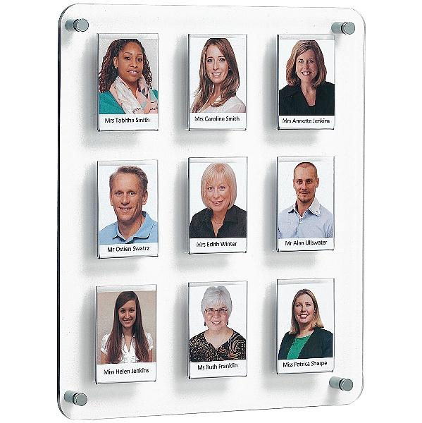 Crystal Wall Class/Staff Board 9 Pockets