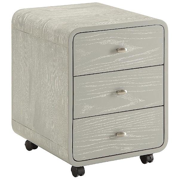 Spectrum Grey Real Wood Veneer Pedestal