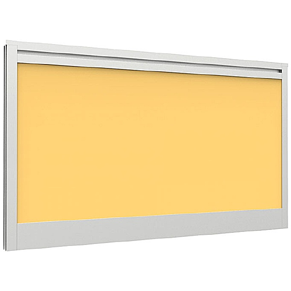 Lumiere Straight Desk Mounted Screens With Single Tool Rail