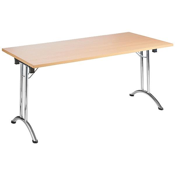 NEXT DAY Unite Rectangular Chrome Folding Tables