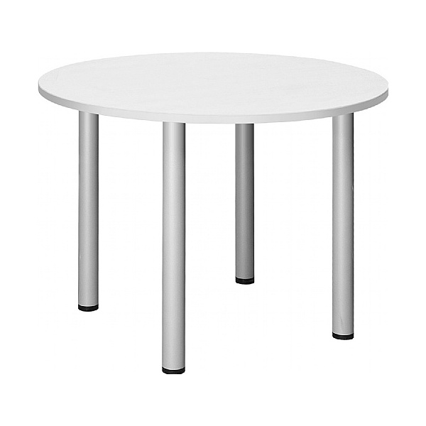 Commerce II White Round Meeting Tables