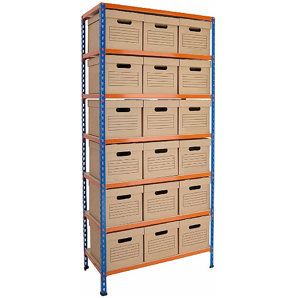 BiG340 Document Storage Shelving With Standard Boxes