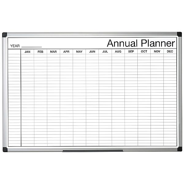 Bi-Office Monochrome Annual Planner (Months)