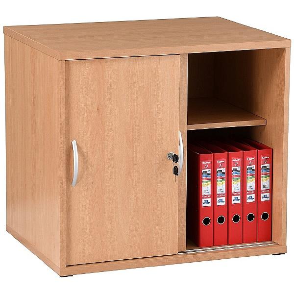 NEXT DAY Karbon Desk High Sliding Door Cupboard