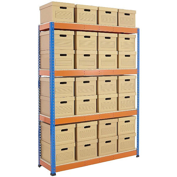 BiG800 Archive Storage Bay With Plain Boxes