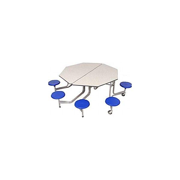 Octagonal Graduate 8 Seat Folding Dining Units