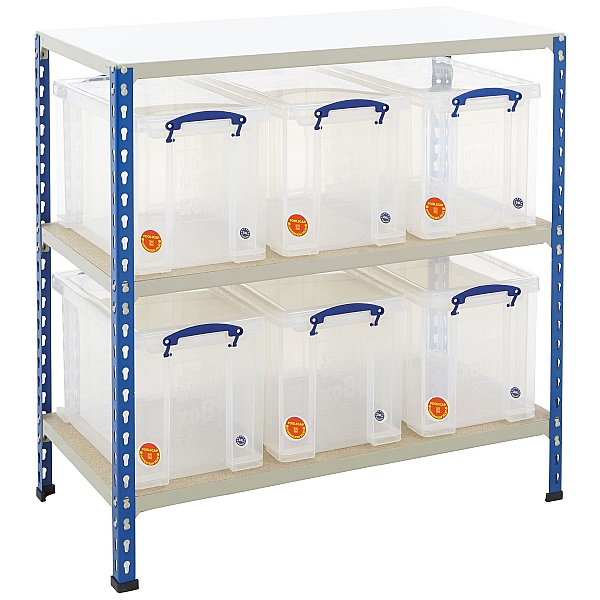 BiG340 Shelving Bay With 6 x 24 Litre Really Useful Boxes