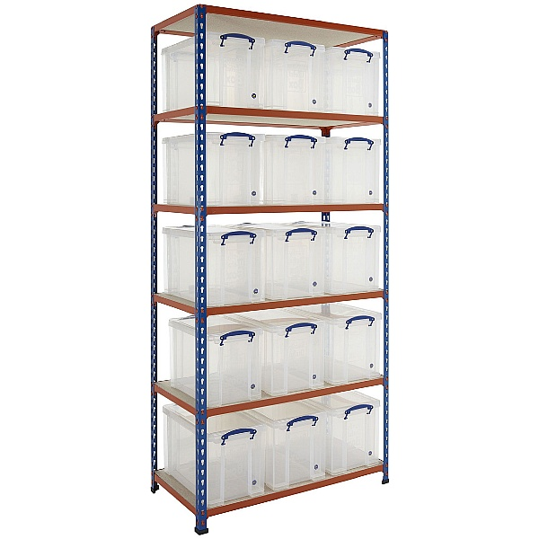 BiG340 Shelving Bay With 15 x 24 Litre Really Useful Boxes