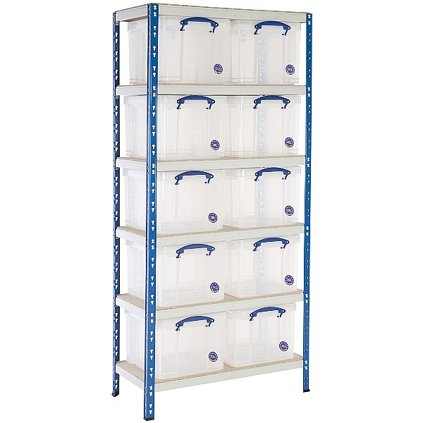 BiG340 Shelving Bay With 10 x 35 litre Really Useful Boxes