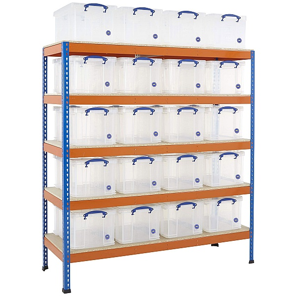 BIG400 Racking Bay With 20 X 48 Litre Really Useful Boxes