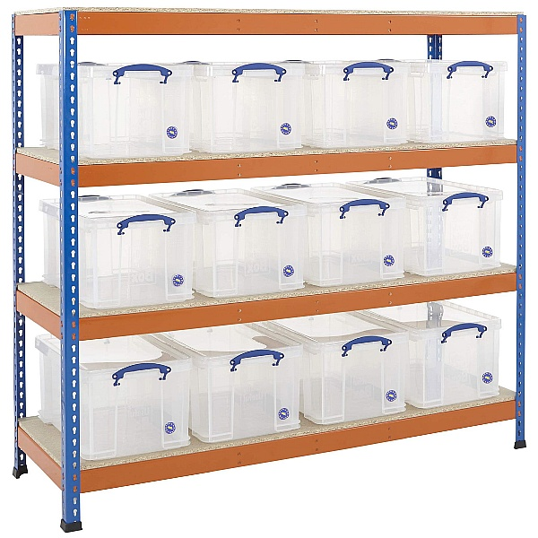 BiG400 Racking Bay With 12 x 48 Litre Really Useful Boxes