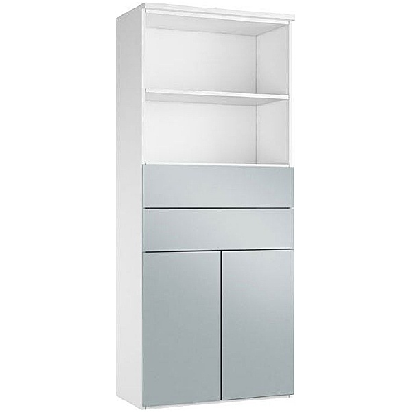 NEXT DAY Fluid Double Door Combination Cupboard With Drawers And Shelves