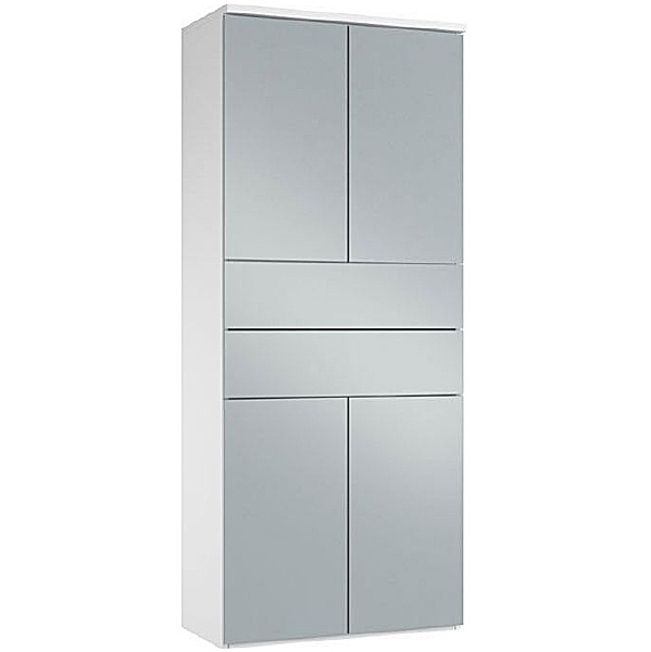 NEXT DAY Fluid Twin Double Door Combination Cupboard With Drawers