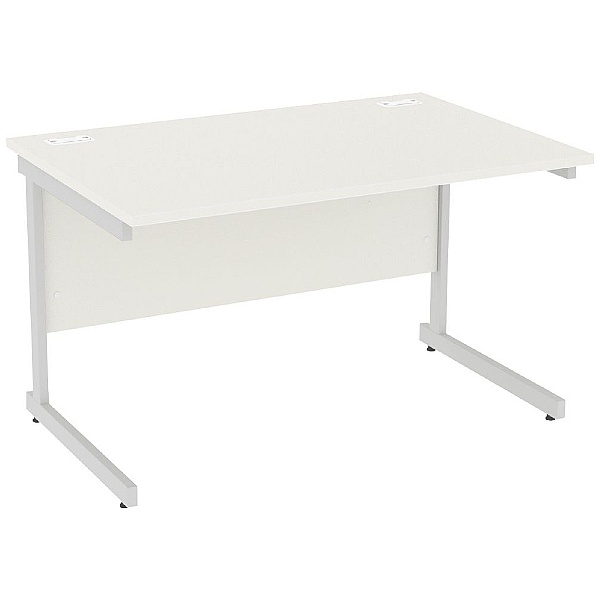 Next Day Vogue White Rectangular Cantilever Desks