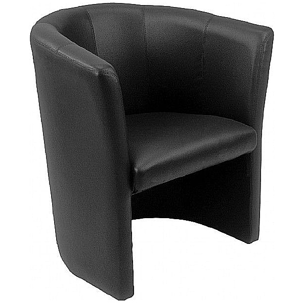 Club Leather Faced Tub Chairs