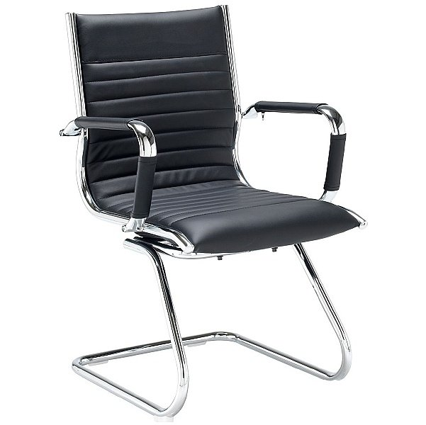 Bari Leather Faced Visitor Chair
