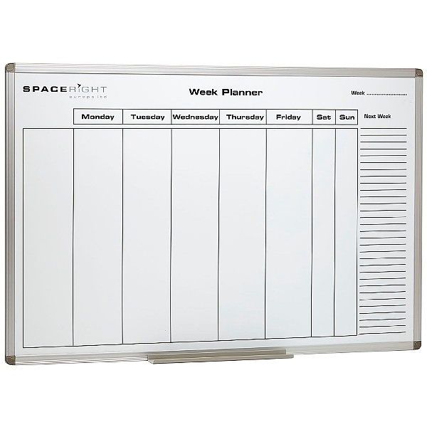 Weekly Planner Marked Magnetic Whiteboard