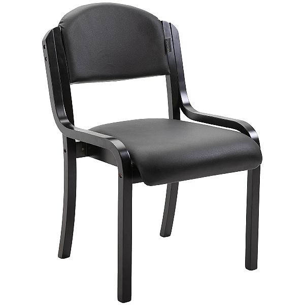 Devonshire Black Frame Vinyl Stacking Chair