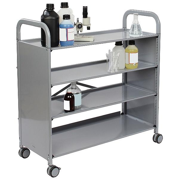 Gratnells Callero Plus 4 Shelf Flat Trolley