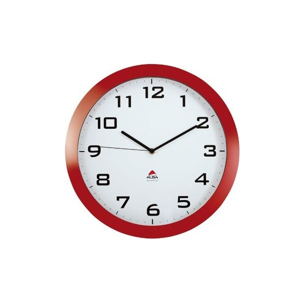 Alba Silent Wall Clock - Red