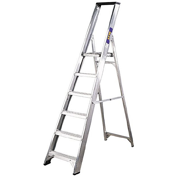 Lyte Industrial Platform Step Ladders With Tool Tray