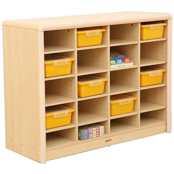 Elegant 20 Compartment Classroom Storage Unit