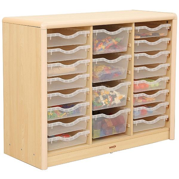 Elegant Classroom Tray Storage Unit