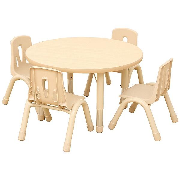 Elegant Round Height Adjustable Classroom Table