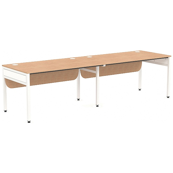 NEXT DAY Ratio 2 Person Side By Side Bench Desk