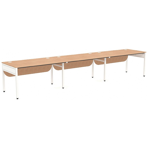 NEXT DAY Ratio 3 Person Side By Side Bench Desk