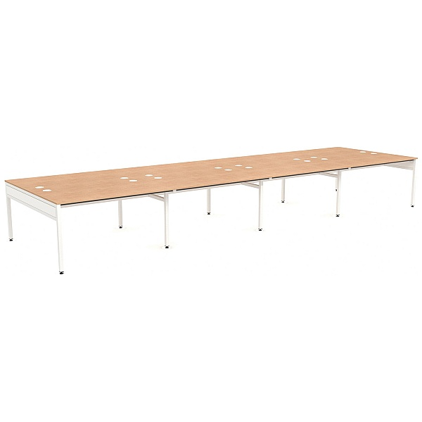 NEXT DAY Ratio 8 Person Back to Back Bench Desk