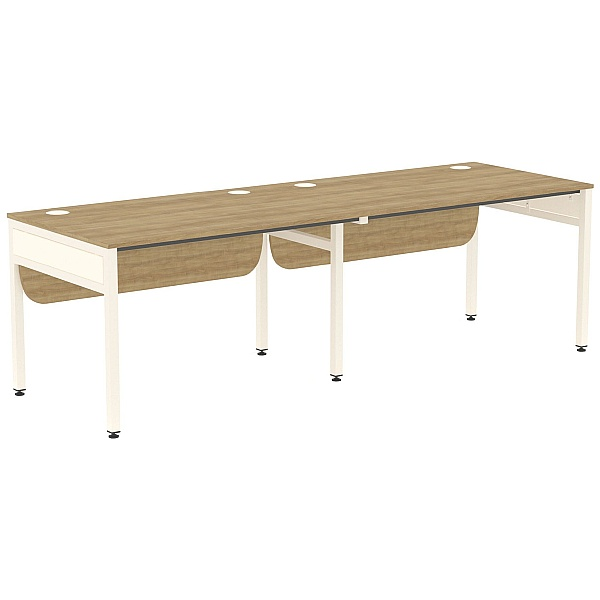 Ratio 2 Person Side By Side Bench Desk
