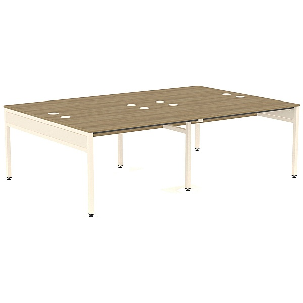 Ratio 4 Person Back to Back Bench Desk