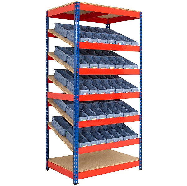 Kanban Inclined Rivet Shelving System and Tray Kits